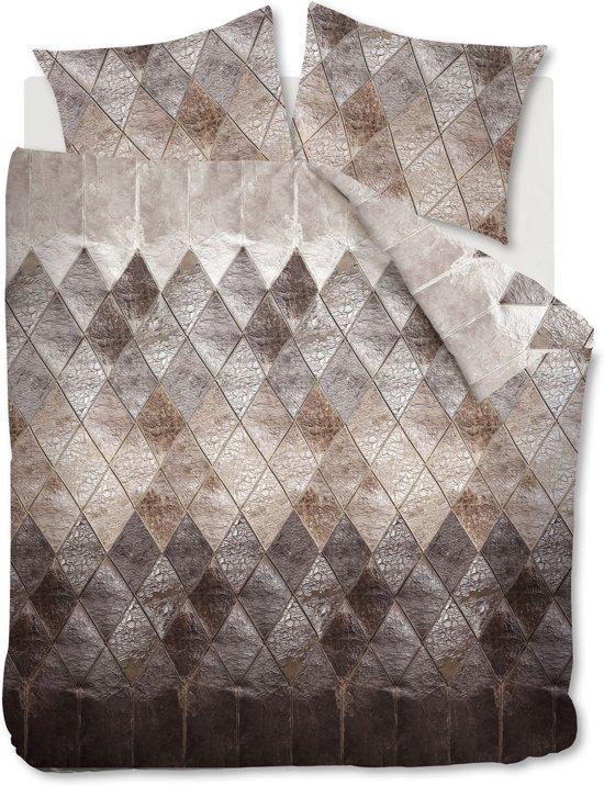 At Home Leather - Dekbedovertrek - Eenpersoons - 140x200/220 cm + 1 kussensloop 60x70 cm - Naturel
