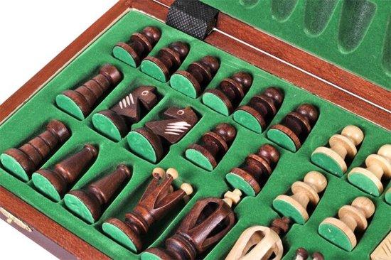 Sunrise Royal 36cm - Luxe schaakspel schaakbord (Hout)