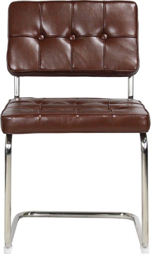bauhaus stoel square vintage bruin pu leder. Black Bedroom Furniture Sets. Home Design Ideas