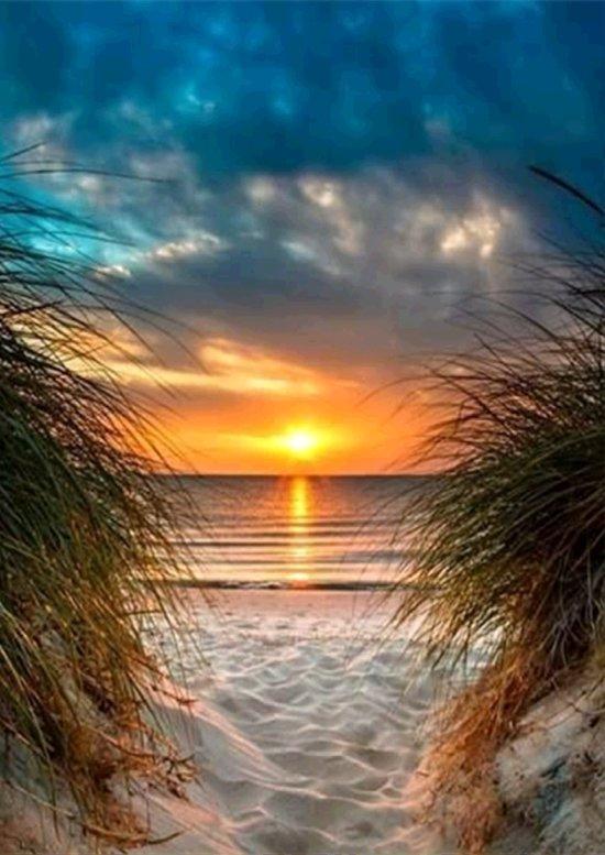 Diamond Painting Sunset Beach View Strand Zonsondergang Uitzicht