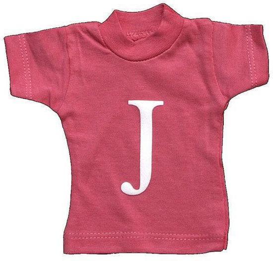 Lettershirts roze J
