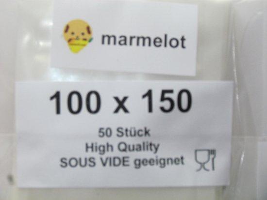 Marmelot Vacuumzakken Mikro Structuur 10x15cm 1000stuks voor alle Merken Vacuum Sealers