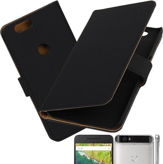 MP Case Effe Zwart hoesje voor Huawei Nexus 6P Booktype - Telefoonhoesje - smartphonehoesje - beschermhoes. in Schilberg