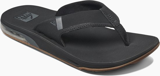 Black Fanning Slippers Heren Reef Low Met Flesopener EwfIzqzO