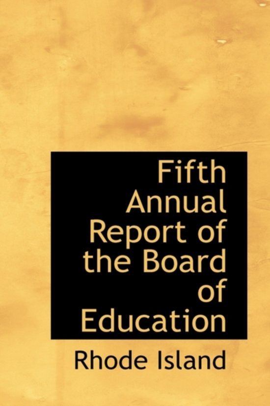 Fifth Annual Report of the Board of Education