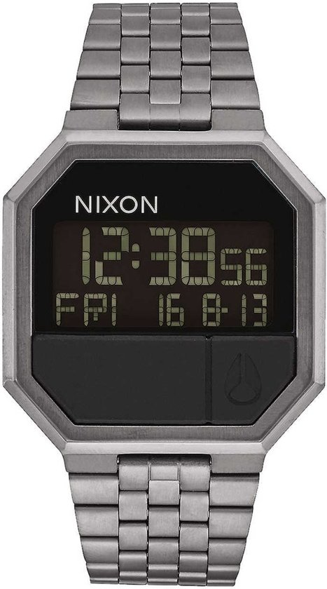 Nixon A158632 Re-Run all gunmetal - Horloge - 38mm - Zilver