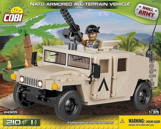 Cobi Small Army Bouwset Nato Aatv Humvee 212-delig 24305