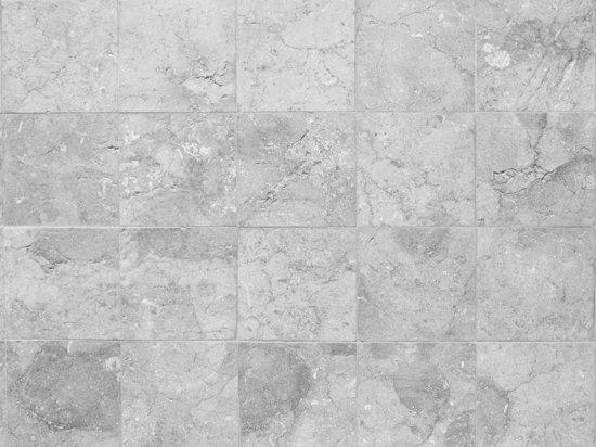 Grijze Tuintegels 100x100.Vinyl Vloerkleed Rough Marble Grey Grijze Tegels 100x100cm