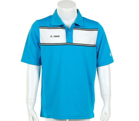 Jako Polo Player Junior - Sportpolo - Kinderen - Maat 128 - Azur Blue;White