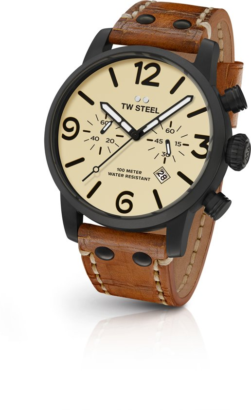 TW Steel Maverick MS43 Heren Horloge Zwart 45mm Chrono