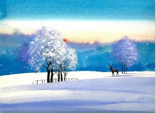 Afbeelding van het spel Winter Meadow Deluxe Boxed Holiday Cards