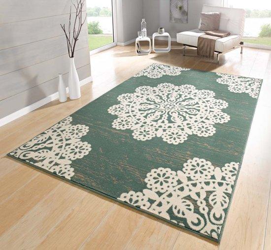 Vloerkleed  lace 120x170cm groen, creme Hanse Home