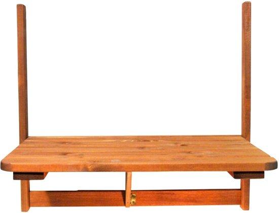 Opklapbare Balkontafel 63 x 40 cm - Hout - Inklapbaar - Inclusief bevestigingsmateriaal