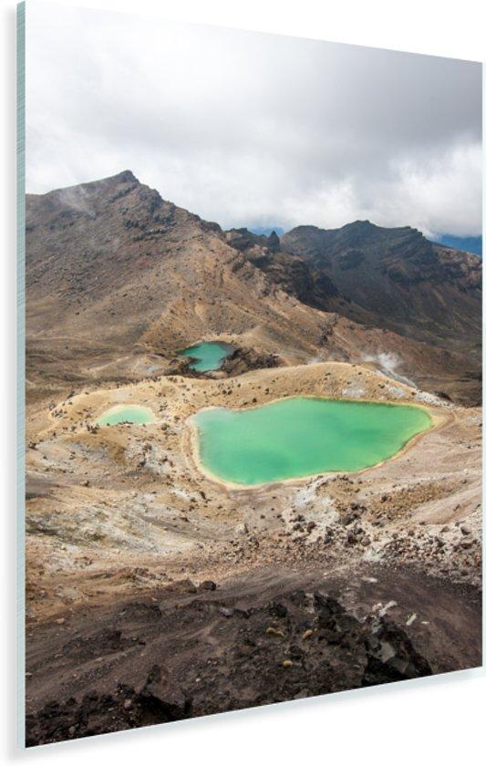 Bovenaanzicht van het Nationaal park Tongariro in Nieuw-Zeeland Plexiglas 80x120 cm - Foto print op Glas (Plexiglas wanddecoratie)