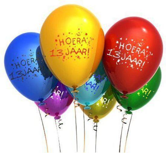 13 jaar bol.  Benza   Leeftijd Ballonnen   13 Jaar (12 stuks  13 jaar