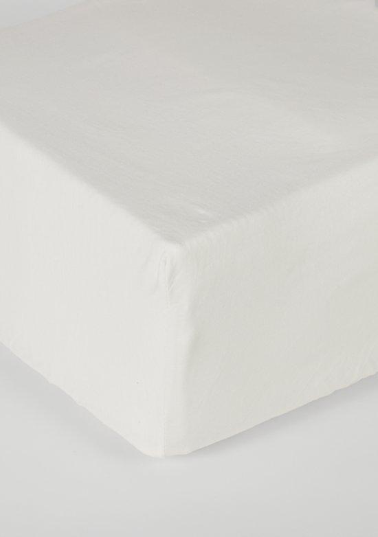 Nightlife Jersey Hoeslaken Ecru-120 x 200 cm