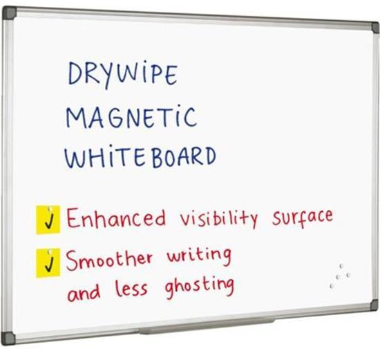 Quantore Whiteboard 45x60 cm - Magnetisch - Gelakt staal - met afleggoot