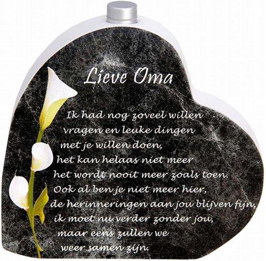 Bolcom In Memoriam Hart Met Asbuisje En Gedicht Lieve Oma