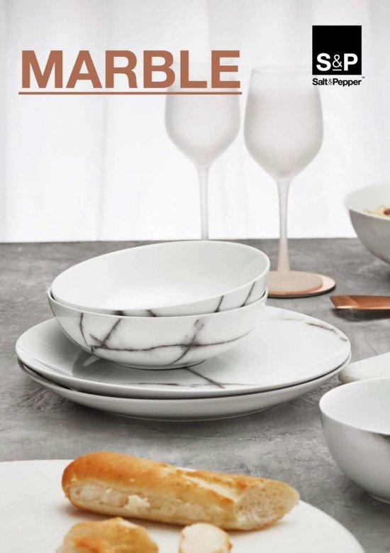 Salt & Pepper Marble Serviesset 20-delig