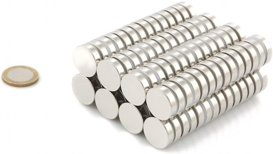 Neodymium Sterke Magneten - Magneet - SET 100 STUKS Schijfmagneten 20 x 5mm - 6.3 kg Trekkracht