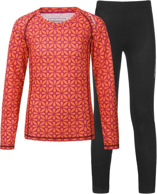 Tenson Sportshirt - Maat 158  - Unisex - oranje/roze/zwart