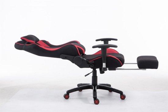 Clp Shift V2 - Racing Bureaustoel - Stof - Zwart/rood - Met voetsteun