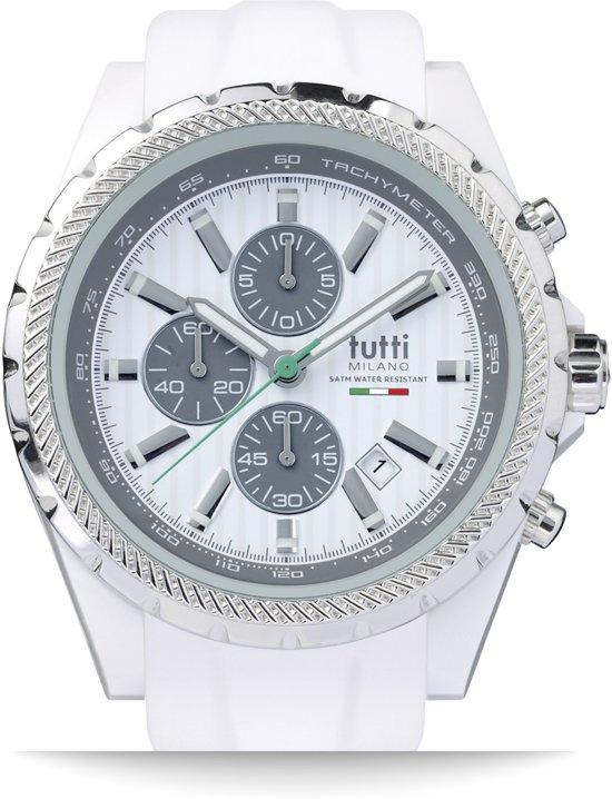 Tutti milano tm005wh horloge 48 mm wit for Meteorite milano