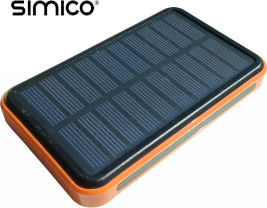 SIMICO Solar powerbank 10.000 mAh