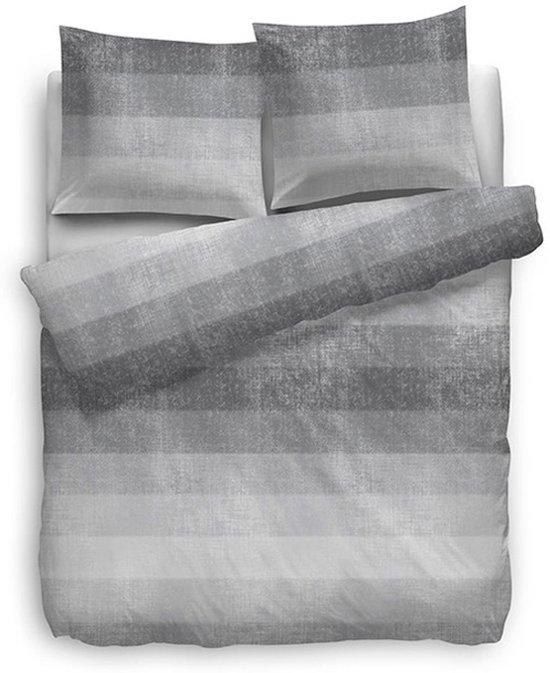 Heckett Lane Zuri Dekbedovertrek - Eenpersoons - 140x200 + 60x80 cm - Grijs