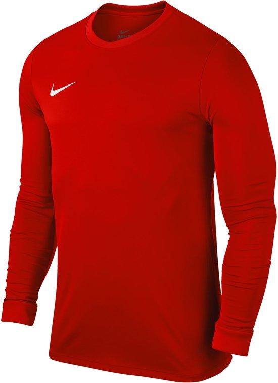 Nike Dry Top Sportshirt LS Heren University RedWhite