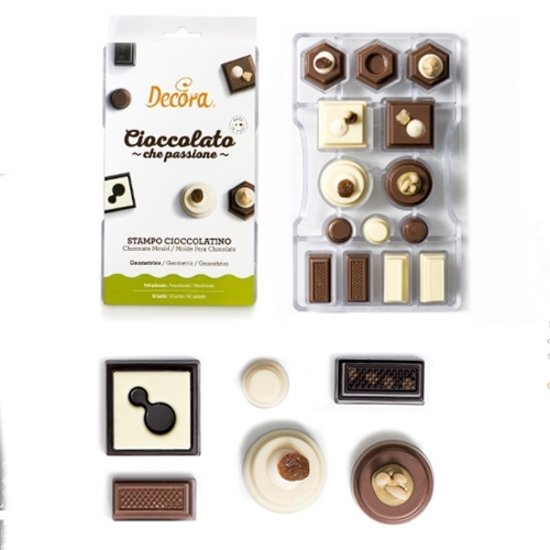 Chocolade mal Geomemetrie - Decora