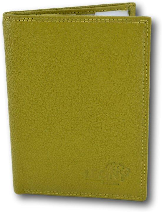 LeonDesign - 16-P2457-17 - mapje voor autopapieren - lime groen - leer