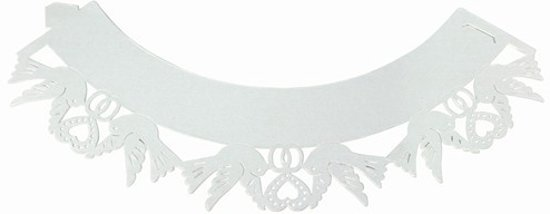 PME Cupcake Wrappers Dove White pk/12
