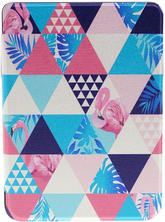 Shop4 - Kobo Clara HD Hoes - Book Cover Exotische Flamingo Geometrie