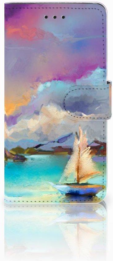 Huawei Y5 2018 Uniek Boekhoesje Boat