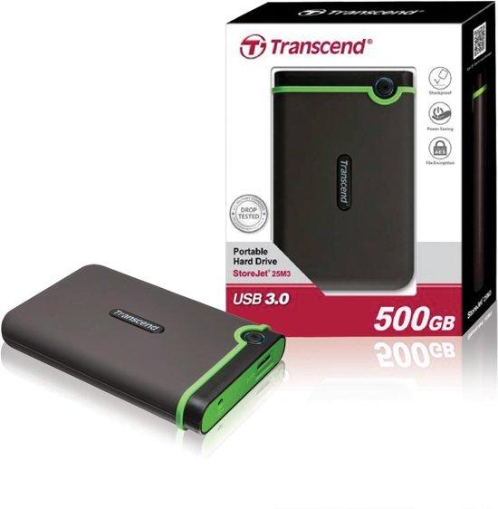 Transcend StoreJet 25M3  - Externe harde schijf - 500 GB