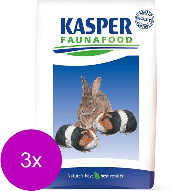 Kasper Faunafood Konijnen Knaagmix - Konijnenvoer - 3 x 3.5 kg
