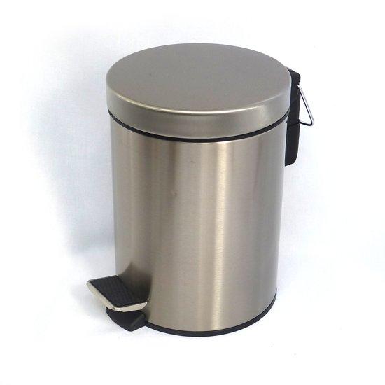 Easybin Pedaalemmer Rvs 30 Liter Met Binnenemmer.Bol Com Easybin Pedaalemmer 5 L Rvs