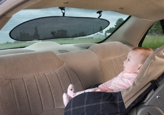 Diono Sun Stop - Auto zonnescherm met zuignappen voor de achterruit - Afmeting 84,8 x 34 cm