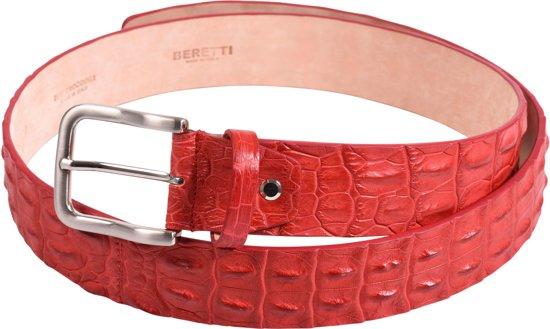 Riem - leer - rood - krokodil - Beretti