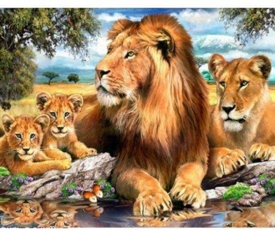 Diamond painting pakket leeuwen AZ-1399 Artibalta