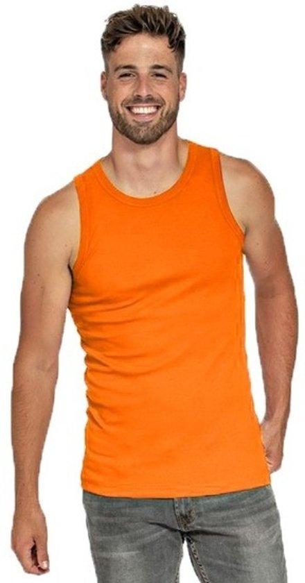 Oranje tanktop voor heren XL