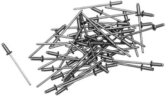 KWB Popnagels 4 x 16 mm - 50 Stuks