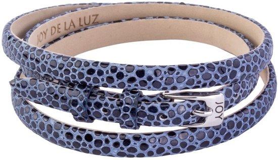 Joy de la Luz JB339 - Leren Armband - Blauw