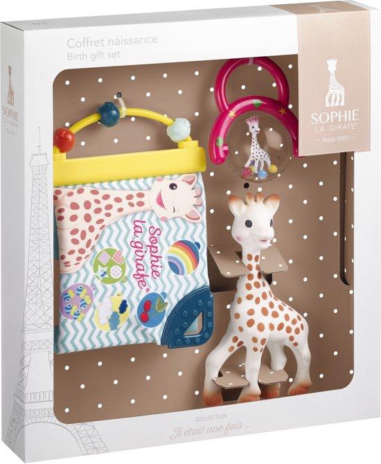 Sophie de giraf geboorteset in witte geschenkdoos