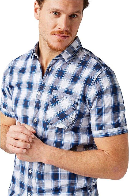 Korte Mouw Overhemd Mannen.Bol Com Tom Tailor Heren Korte Mouw Overhemd Geruit Borstzak