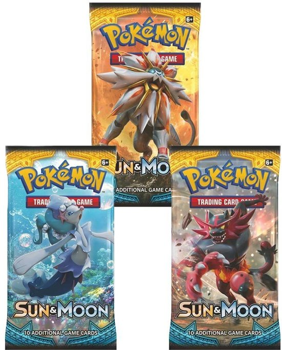 Afbeelding van het spel 3 Pakjes Pokemon Kaarten Sun & Moon Booster