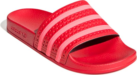 adidas slippers rood roze