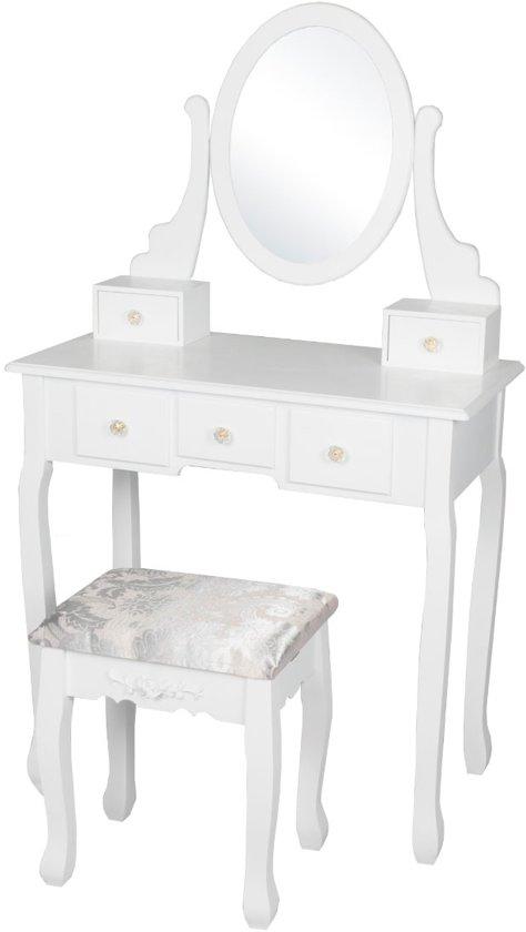 Fonkelnieuw bol.com | REKE - Kaptafel Mara inclusief zitbankje en spiegel - Wit HC-13