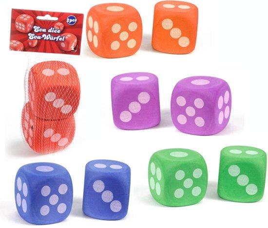 Afbeelding van het spel 2 grote dobbelstenen - soft - 6,5 x 6,5 cm
